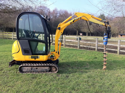 Sexton Fencing Digger Amp Auger Hire Post Hole Boring